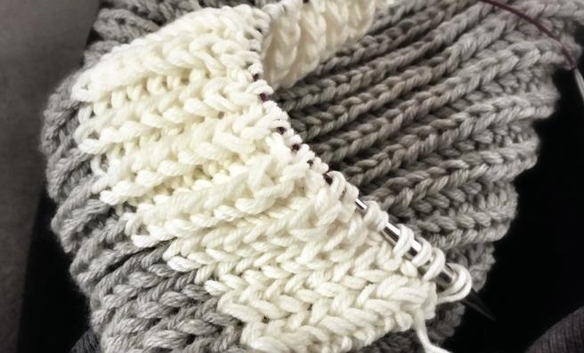cushy knitted scarf