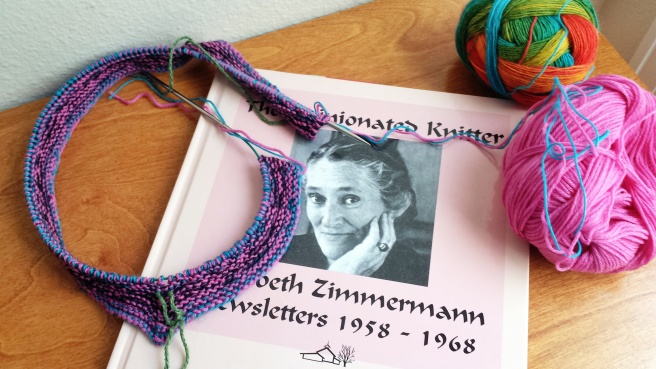 I have watched E.Z's Knitting Workshop DVD's and am mesmerized by her.  If you've never been to the East coast (which I haven't) then the best way I can describe her is to say that she reminds me a little of Mrs. Doubtfire (from the movie of the same name).